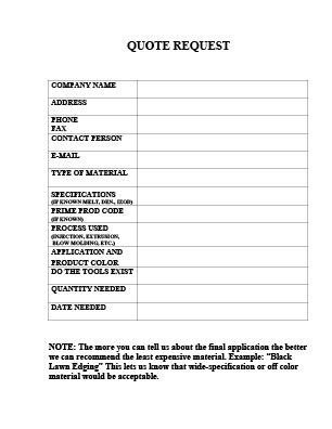 Quote Request Form. Auto Insurance Quote Request Form Sample Quote